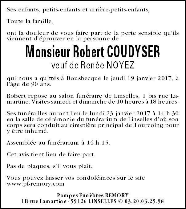 monsieur robert coudyser pompes fun bres remory. Black Bedroom Furniture Sets. Home Design Ideas