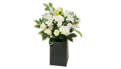 Grand bouquet artificiel blanc
