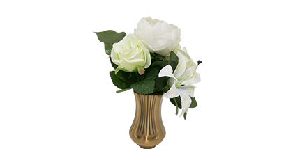 Bouquet de columbarium artificiel blanc
