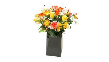 Bouquet artificiel jaune de taille moyenne
