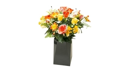 Grand bouquet artificiel jaune