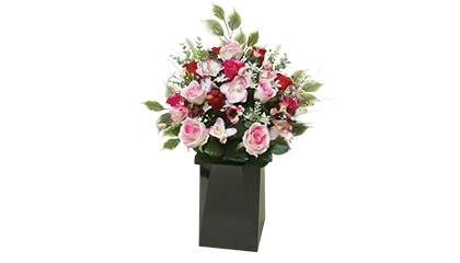 Grand bouquet artificiel rose