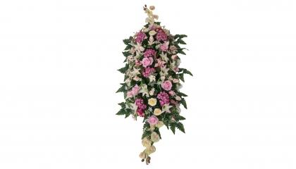 Coussin artificiel rose