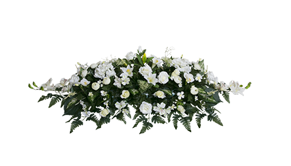 Dessus de cercueil artificiel blanc